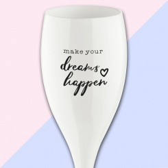 CHEERS NO. 1 DREAMS HAPPEN Superglas 100ml with print