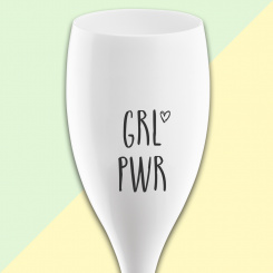 CHEERS NO. 1 GRL PWR Superglas 100ml mit Druck