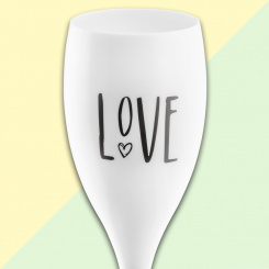 CHEERS NO. 1 LOVE Superglas 100ml mit Druck