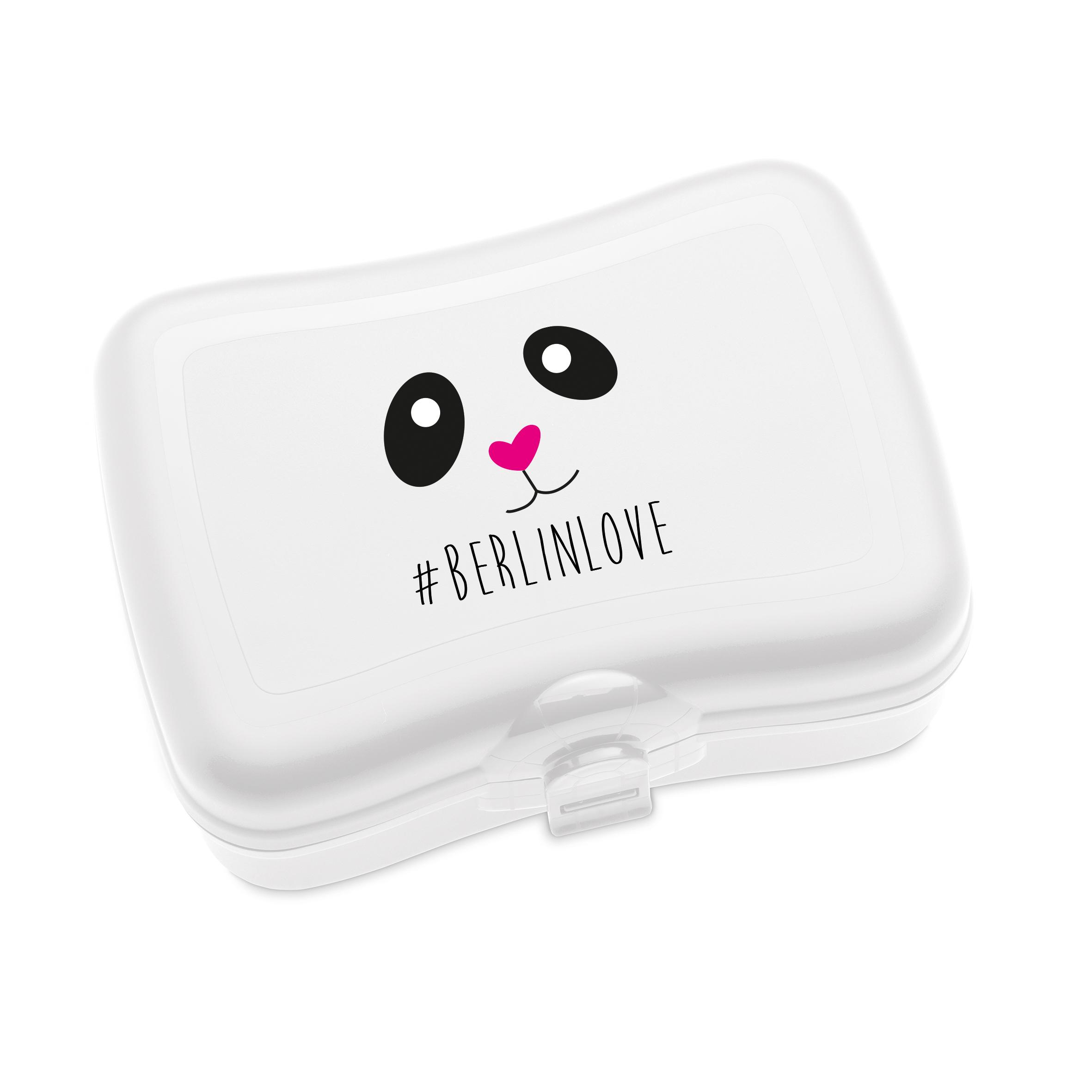 koziol online shop basic berlinlove lunchbox mit druck wei. Black Bedroom Furniture Sets. Home Design Ideas