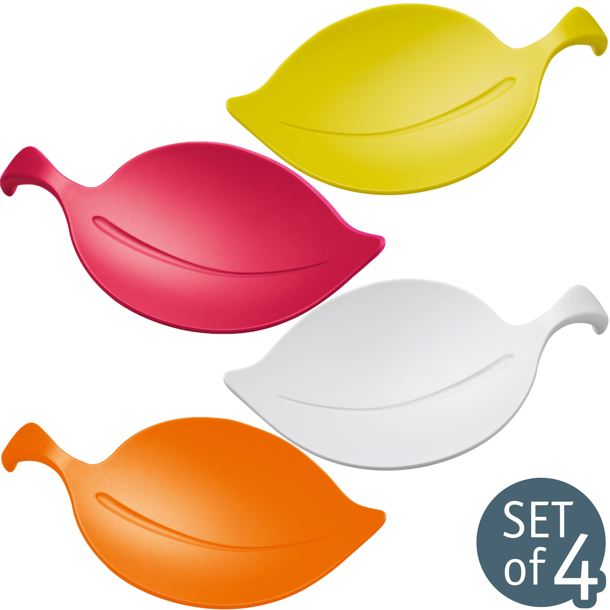 koziol ideas for friends gmbh leaf on bowl set of 4. Black Bedroom Furniture Sets. Home Design Ideas