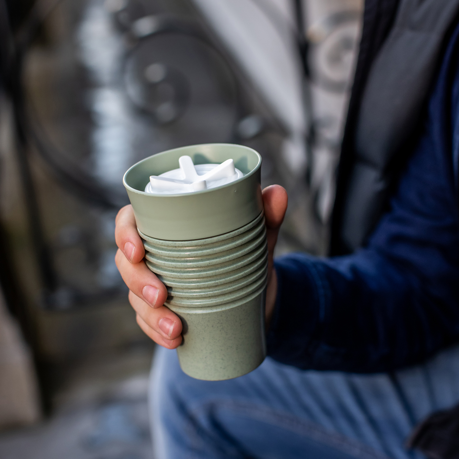 Organic Green Insulated Cup 400ml Aroma to GO 2.0