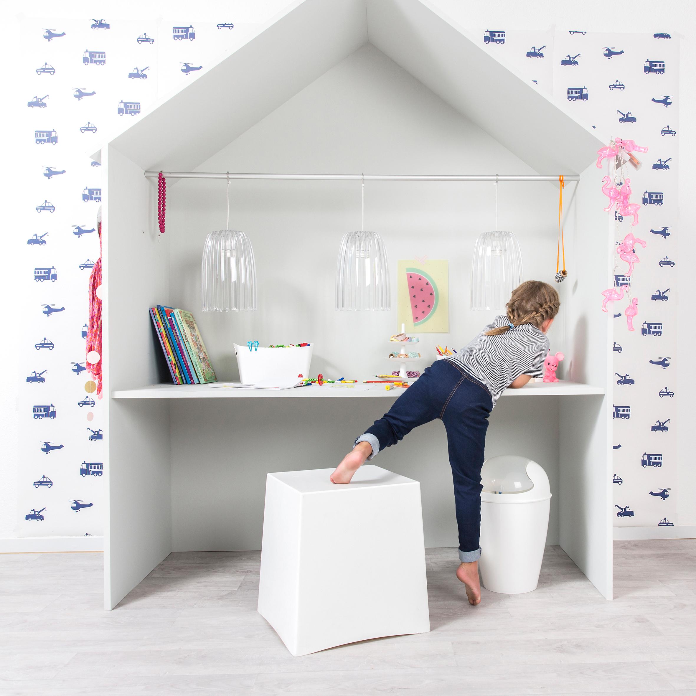 koziol ideas for friends gmbh briq stool powder pink. Black Bedroom Furniture Sets. Home Design Ideas